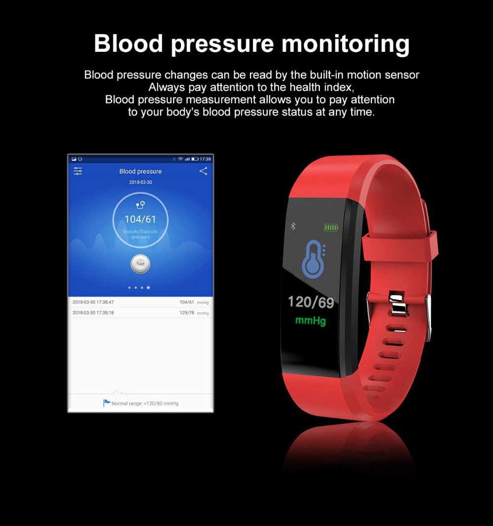 HTB1ceMML3HqK1RjSZFEq6AGMXXao 115Plus Bracelet Heart Rate Blood Pressure Smart Band Fitness Tracker Smartband Bluetooth Wristband for fitbits Smart Watch