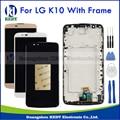 Display lcd touch screen para lg k10 lte k420n k430 K430ds LCD Vidro Digitador Da Tela com Frame Assembléia Branco Preto ouro + Ferramentas