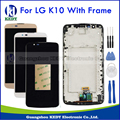 LCD Display Touch Screen For LG K10 LTE K420N K430 K430ds LCD Screen Digitizer Glass with Frame Assembly White Black Gold+Tools