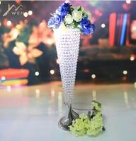 Free shipping Height 75cm*Diameter 18cm wedding Acrylic Crystal vase wedding Road lead 8 pcs/lot