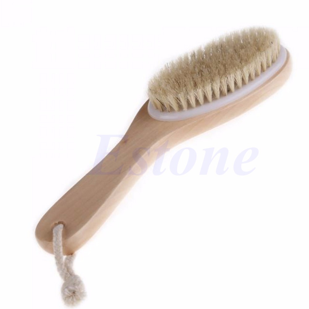 Free shipping Full Body Natural Bristle Dry Skin Exfoliation Brush / Detox Fight Cellulite New #Y207E# Hot Sale 2