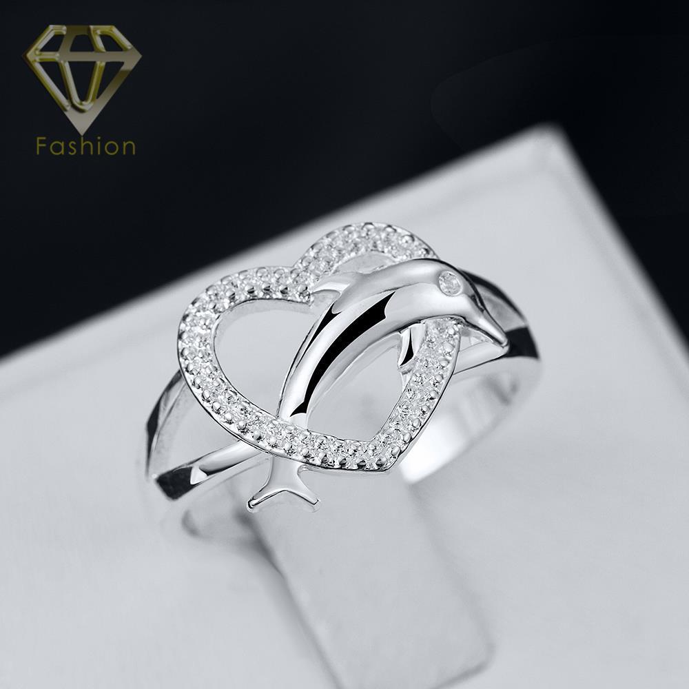 Thumb Rings New Design Romantic Heart & Cute Dolphin Shaped Silver ...