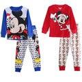 Criança Crianças Meninos Das Meninas Do Bebê Pijama Dos Desenhos Animados Tops de Manga Longa + Calça 2 pcs Set Roupas Sleepwear Nightwear Pjy