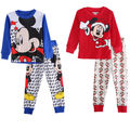 Toddler Kids Baby Girls Boys Pajama Cartoon Long Sleeve Tops + Pants 2pcs Clothing Set Sleepwear Nightwear Pjy