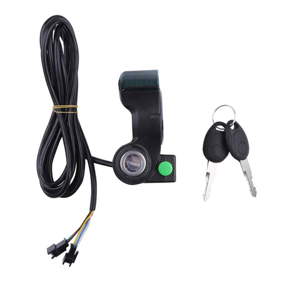 Electric Bike Voltage Display Key Lock With Bell Switch Button E-bike Voltmeter Horn Button Electric Bicycle Accessories
