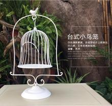 European-style iron art floor table decorated birdcage window for wedding props.