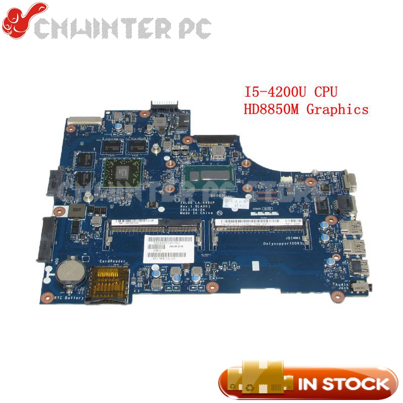 NOKOTION ZAL00 LA-A491P CN-0TXW71 0TXW71 Main Board For <font><b>Dell</b></font> Latitude <font><b>3540</b></font> PC Motherboard SR170 i5-4200U CPU HD8850M Video card image