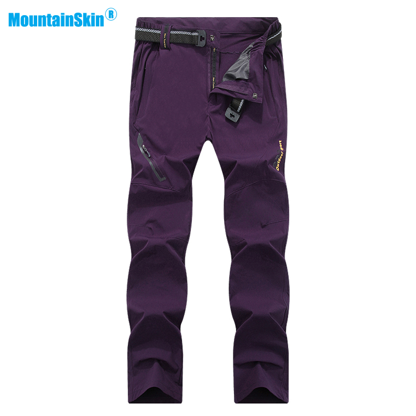 Mountainskin New Women's Summer Quick Dry Softshell Pants Outdoor Elastic Camping Hiking Trekking Climbing Female Trousers MB111 mountainskin 2018 new men s summer quick dry pants outdoor elastic hiking camping trekking fishing climbing sport trousers va172