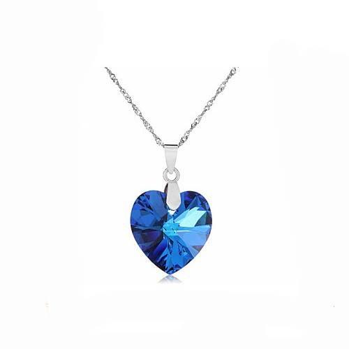 Fashion Heart Shaped Pendant Necklace