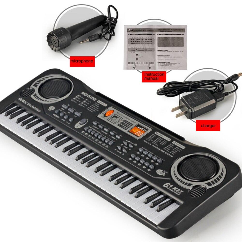 Jouet de formation musicale 61 touches Piano électronique enfants Piano jouet d'enseignement Musical pour enfants clavier Piano électrique enfants cadeau - 2