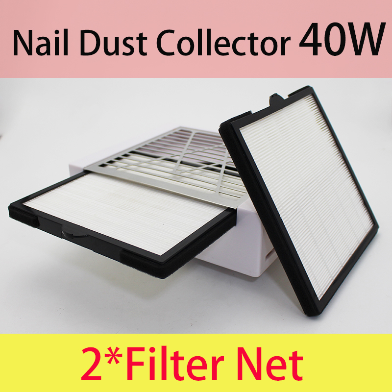 Vacuum Cleaner for Nail Art 40 W Vacuum Cleaner Nails Supplies Nail Dust Collector 2 FILTER