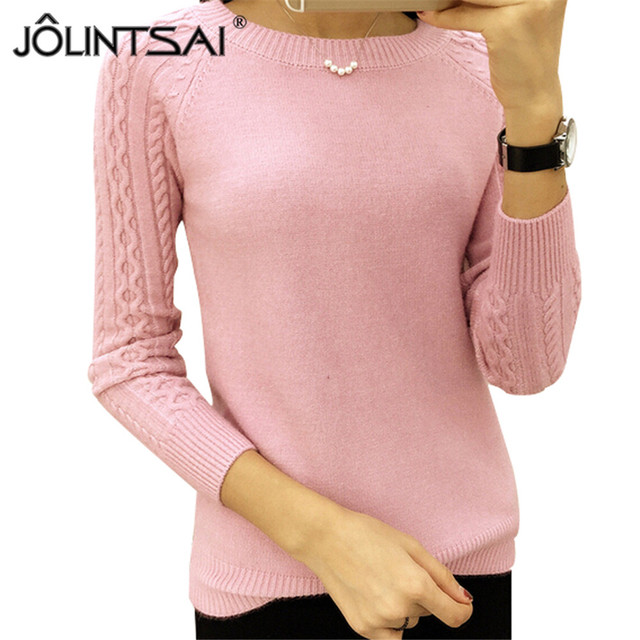 6 Colors Sweaters Women 2016 Hot Sale Winter O-neck Long Sleeve  Pullovers Knitted Sweater Female Warm Tops