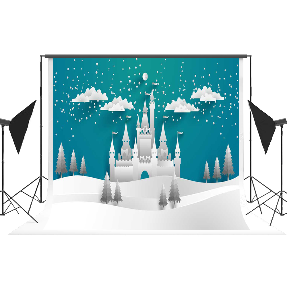 Kate Cartoon Castle Photo Background Origami Backdrop for Photography Cotton Modern Fairy Tale Studio Photos Fotografie