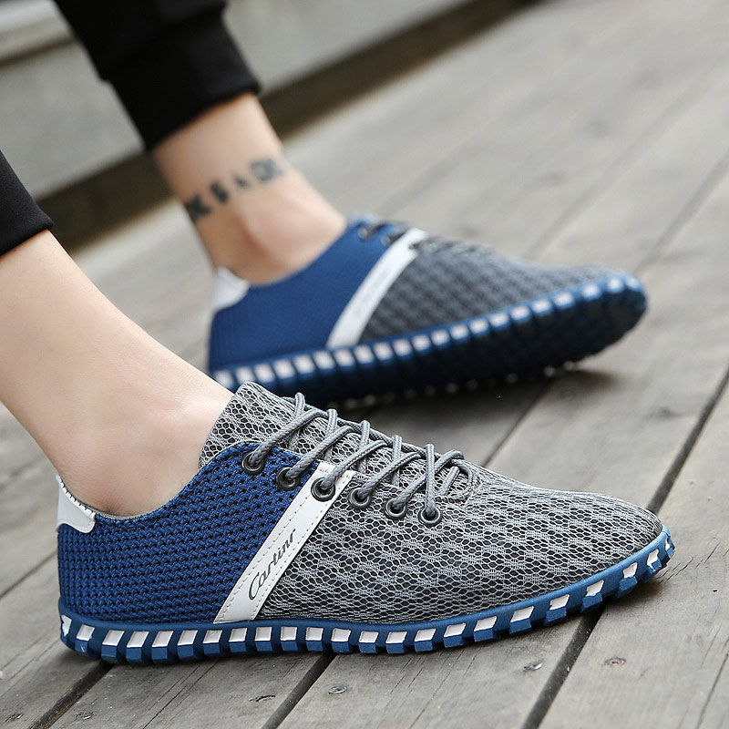 Summer Breathable Mesh Shoes Mens Casual Shoes 2018 New Lace-up - Men's Shoes - Photo 5