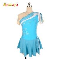Nasinaya Figure Skating Dress Customized Competition Ice Skating Skirt for Girl Women Kids Patinaje Gymnastics Performance 128
