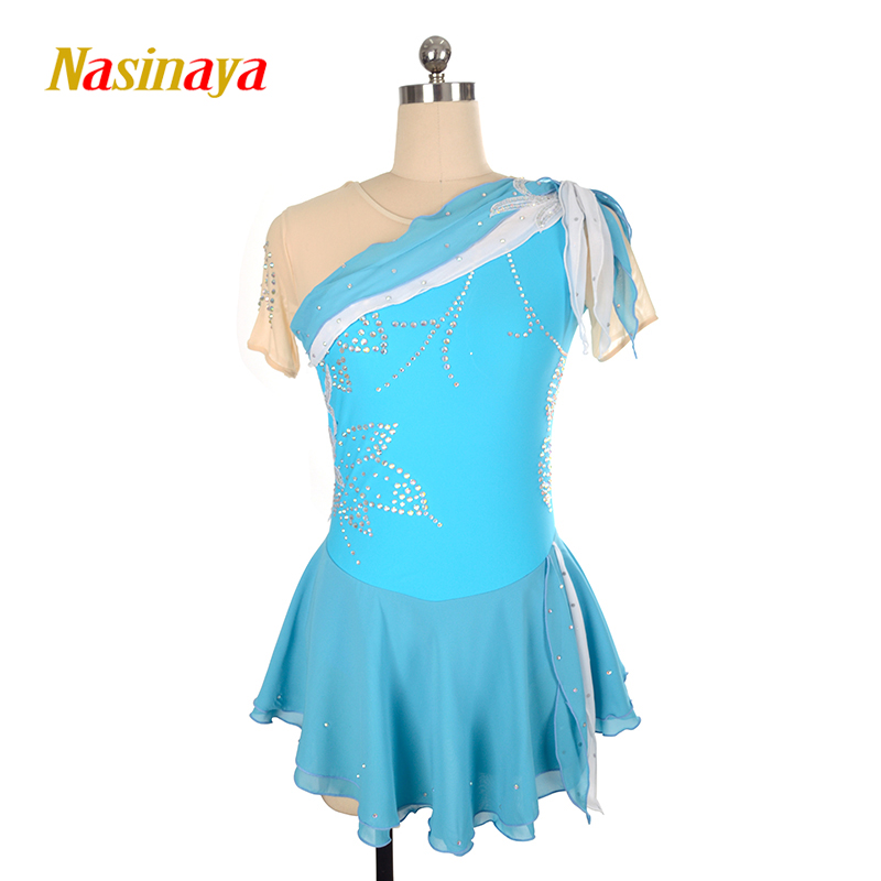 Nasinaya Figure Skating Dress Customized Competition Ice Skating Skirt for Girl Women Kids Patinaje Gymnastics Performance 128 шорты grishko шорты