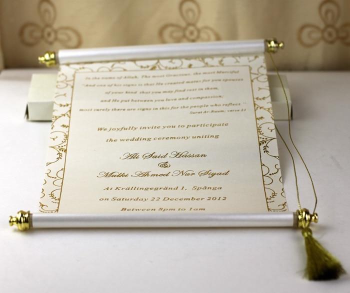 Aliexpress Buy Hot Sale Handmade Customized Scroll Wedding – Handmade Engagement Party Invitations