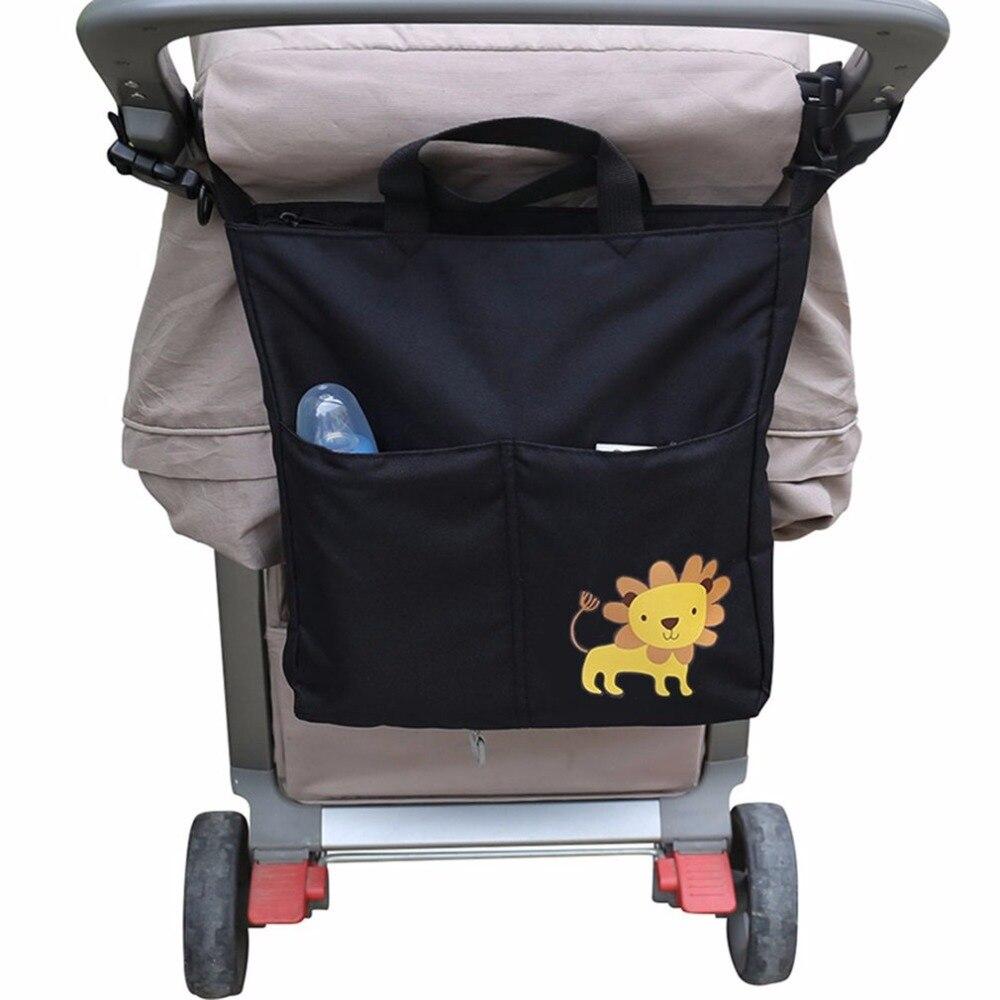 Bayi Stroller Organizer Aksesoris Kapasitas Besar Tahan Air Tas Storage Kereta Dorong Tempat Penyimpanan Anak Popok Menggantung Untuk Mendorong Perawatan Portabel Di