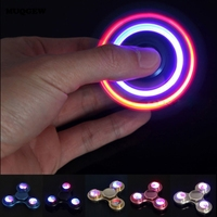 2017 Hot Long Time Powerful Aluminum Fidget Spinner LED Flash Light Hand Finger For Autism ADHD