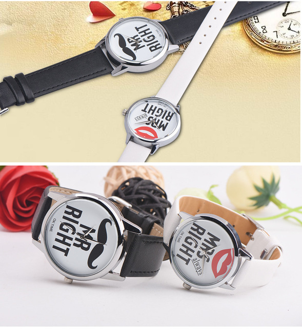 2pcs Fashion Korea Couple Watches Popular Woman Man Casual Quartz Watch Minimalism Lover's Gift Clock High Quality School Clock
