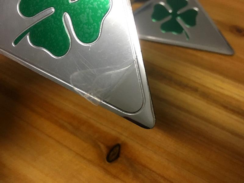 Alfa Romeo quatrefoil green delta Car Side Fender Emblem Badge - Accesorios de interior de coche - foto 3