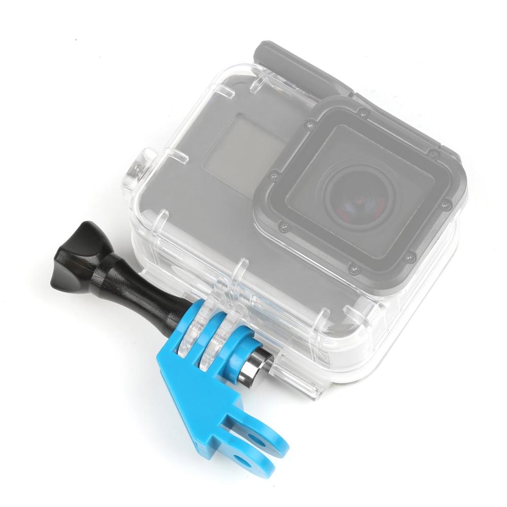 90 Degree Direction Elbow Tripod Adapter Mount For Gopro Hero 7 6 5 SJCAM SJ4000 Yi Go Pro Accessory with Thumb Screw Kit