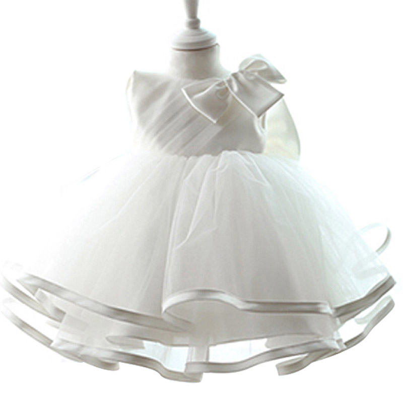 New Summer 2017 Newborn Baby Wedding Dress 1 Year Baby Girl Birthday Dress Princess Dress Toddler Christening Gown Age 0-2 Year