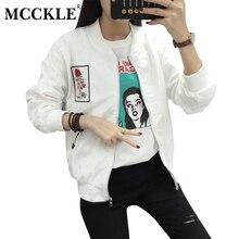 MCCKLE 2017 Autumn Women Floral Embroidery Harajuku Jacket O Neck Long Sleeve Zipper Casacos Ladies Casual Tops Casaco Feminino