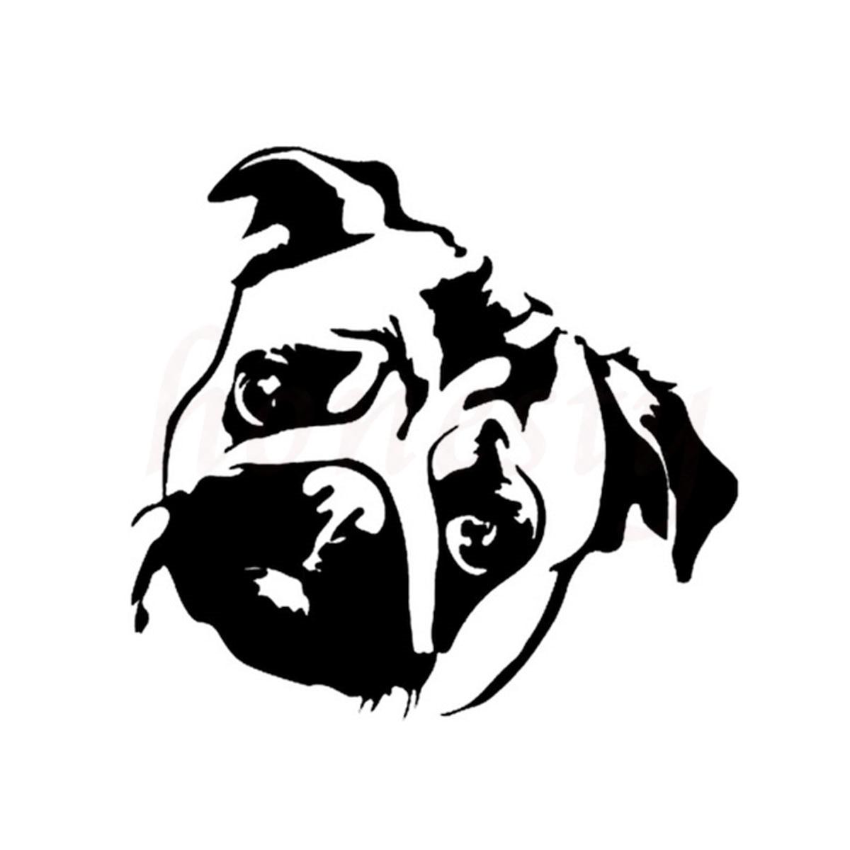 Car glass sticker design - Cute Pug Dog Animal Car Sticker Wall Home Glass Window Door Laptop Auto Truck Motorcycle Black