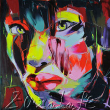 Palette knife painting portrait Palette knife Face Oil painting Impasto figure on canvas Hand painted Francoise Nielly 20