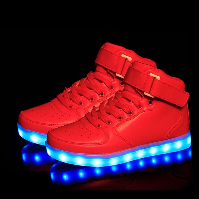 9fc67adeb6f zapatillas led 22,Aliexpress.com: Comprar Eur25 37 cesta de carga usb led  ninos shoes con ...