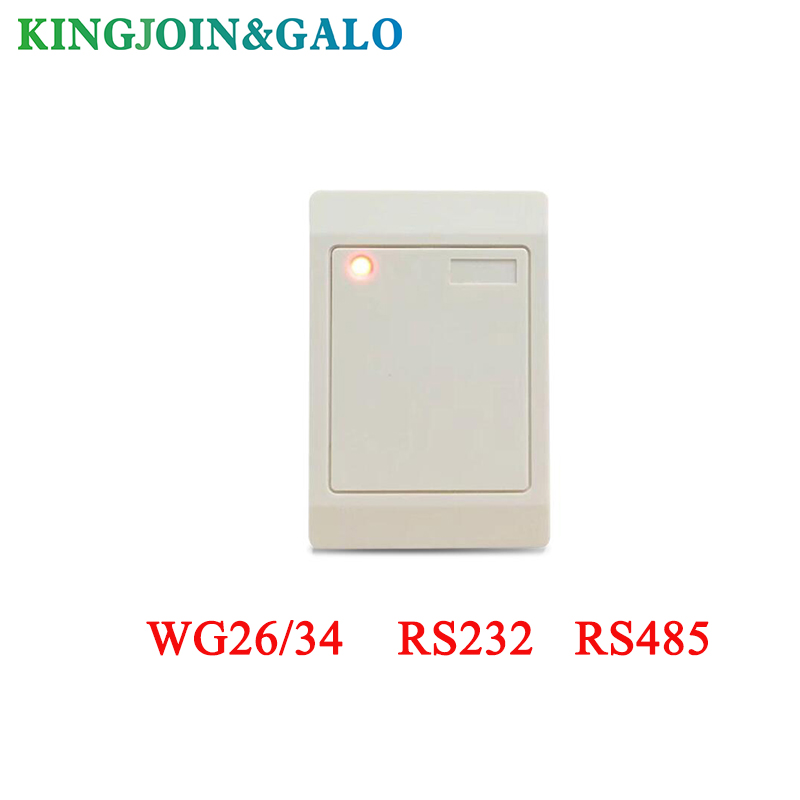 wholesale 13.56MHZ/125khz WG26/34 RS232 RS485 rfid reader Output for card access control system waterproof ic card reader door access control system rs485 232 output