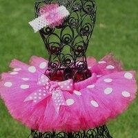 Baby Girl Tutu Skirt For Photo Prop Birthfday Party Ploka Dot Pattern 2 8T Fluffy Tulle