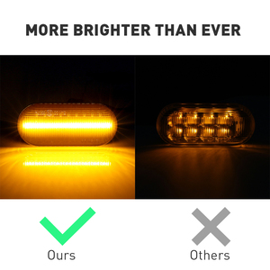 Image 3 - 2 pieces Turn Signal Lights Amber For Ford  Focus MK2 Galaxy C Max Dynamic LED Side Marker For SEAT Leon Toledo 1M Ibiza 6L
