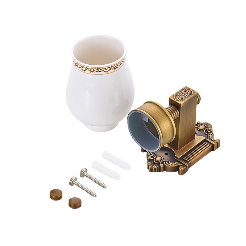 MADICA longueur 17 cm porte-gobelet pour salle de douche chambre porte-gobelet en verre porte-gobelet Vintage en laiton porte-gobelet simple