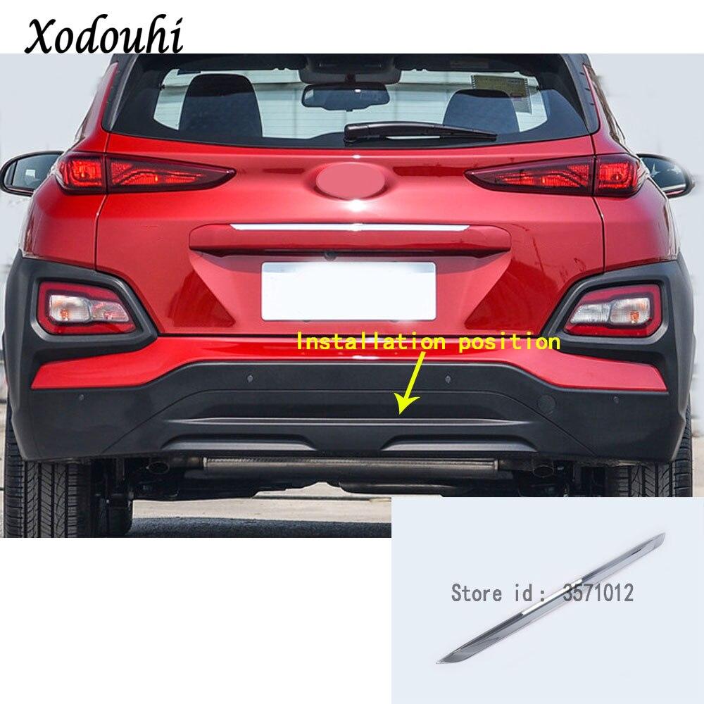 For Hyundai Kona Encino Kauai 2017 2018 2019 Car sticker styling Rear Bumper trim trunk plate frame threshold pedal panel 1pcs