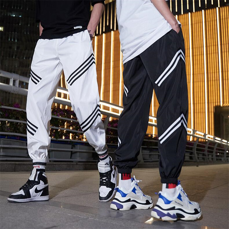 Men's Joggers Cargo-Pant Trousers Elastic Hip-Hip-Streetwear XL Waist Women
