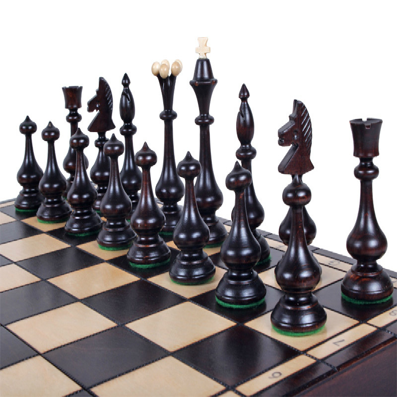 Buying Artists Polish Imported Solid Wood Large Portable Folding Chess For Children Staunton Postage Qisi