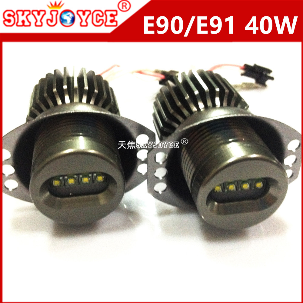 10x 20w led marker angel eyes for e90 e91 lci car styling accessories drl xenon
