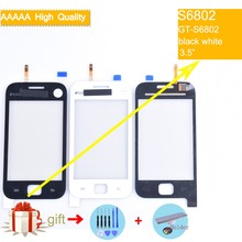 For Samsung Galaxy Ace Duos GT-S6802 S6802 Touch Screen Panel Sensor Digitizer Front Glass Outer Lens Touchscreen No LCD