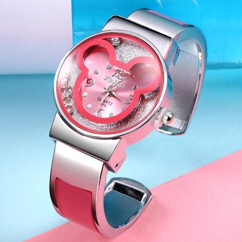 Disney children watch Parent-child quartz watch Mickey mouse lady Bracelet Watch female jewelry gift Karachi