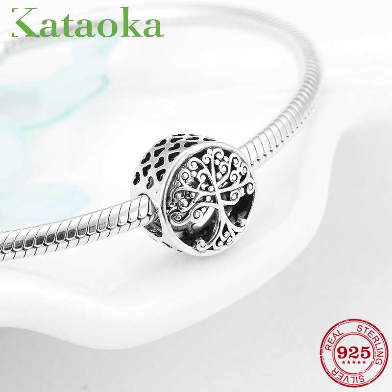 2fcac1c6d Detail Feedback Questions about Real 925 Sterling Silver Tree of life Family  Grown in Love Charms Beads for jewelry making fit charm Pandora Bracelets  ...