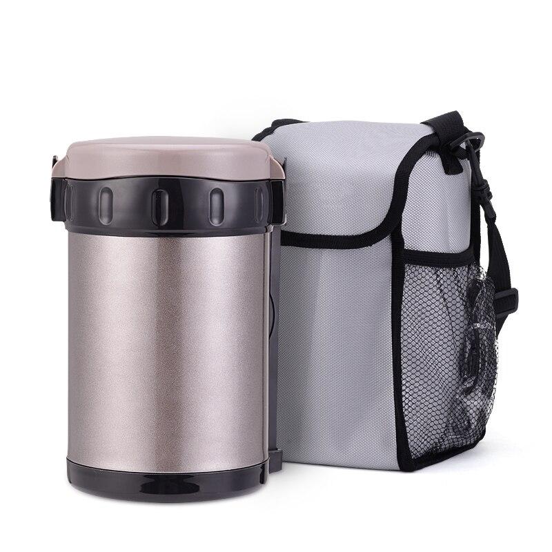 1800 ml thermos 3 pcs inox ชาม thermo แบบพกพาถุงอาหารสูญญากาศซุป jar ฉนวนแก้วที่มีสีสันกล่องอาหารกลางวัน-ใน ขวดสูญญากาศและภาชนะเก็บความร้อน จาก บ้านและสวน บน   2