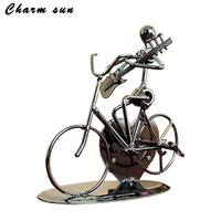 Creative Gifts Musicians Cycling Playing Metal Crafts Home Decor Art Craft Artist Cast Iron Gift For
