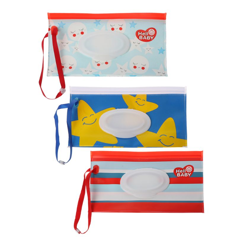 Clutch and Clean Wipes Carrying Case Wet Wipes Bag Clamshell Cosmetic Pouch
