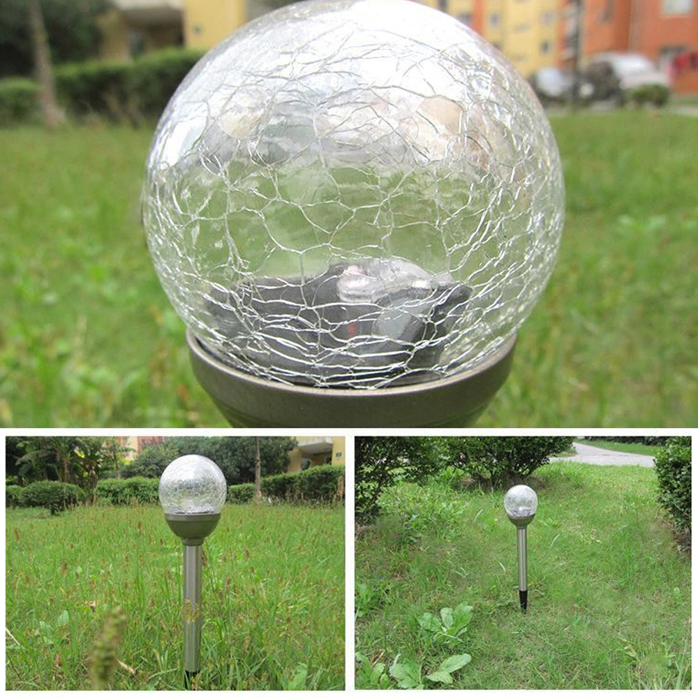 Solar Ball Garden Outdoor Landscape Walkway/&Lights Color Change LED Lamps