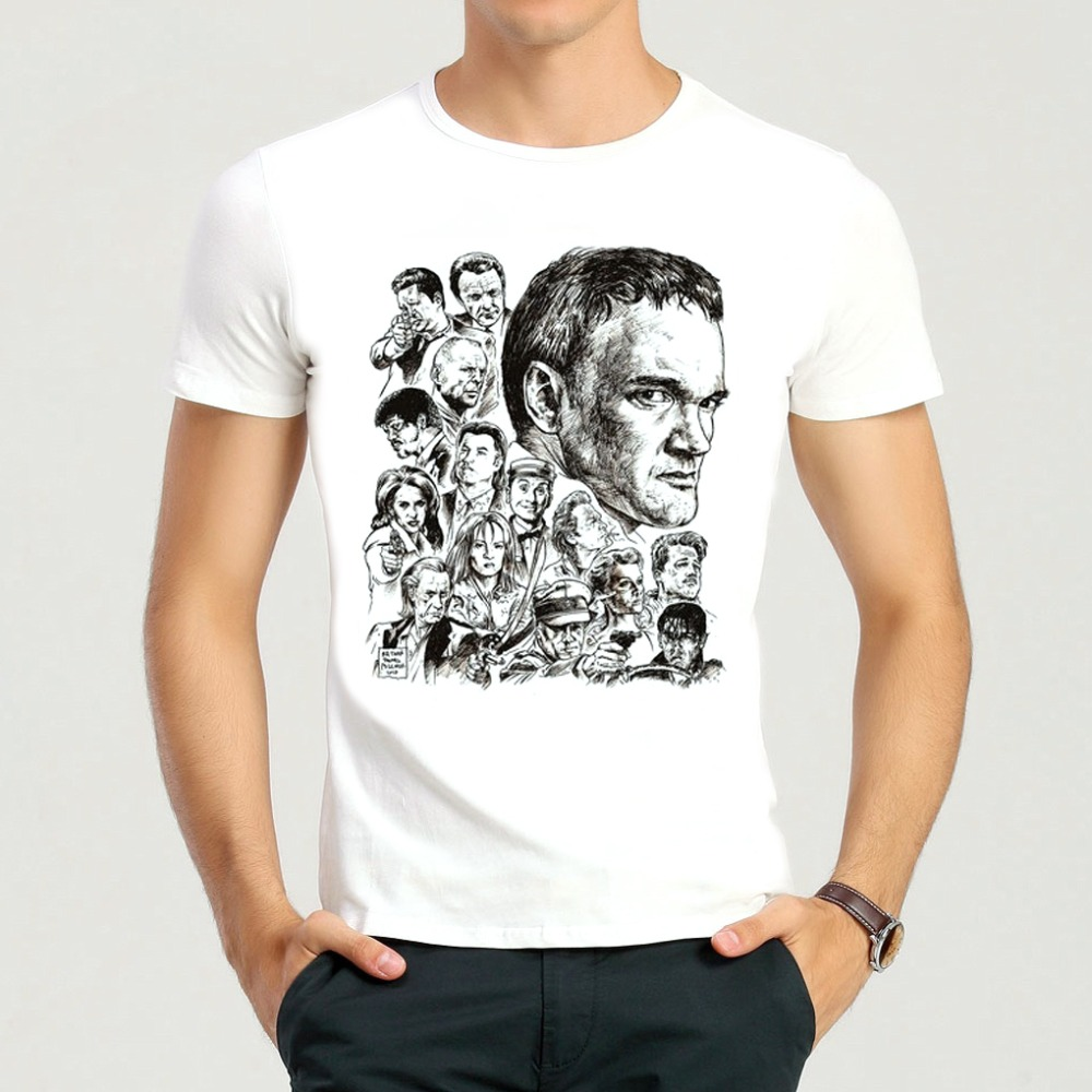 Quentin Tarantino T Shirt Short Sleeve White Color Pulp Fiction Quentin Tarantino T-shirt Tees Top tshirt For Men & Women