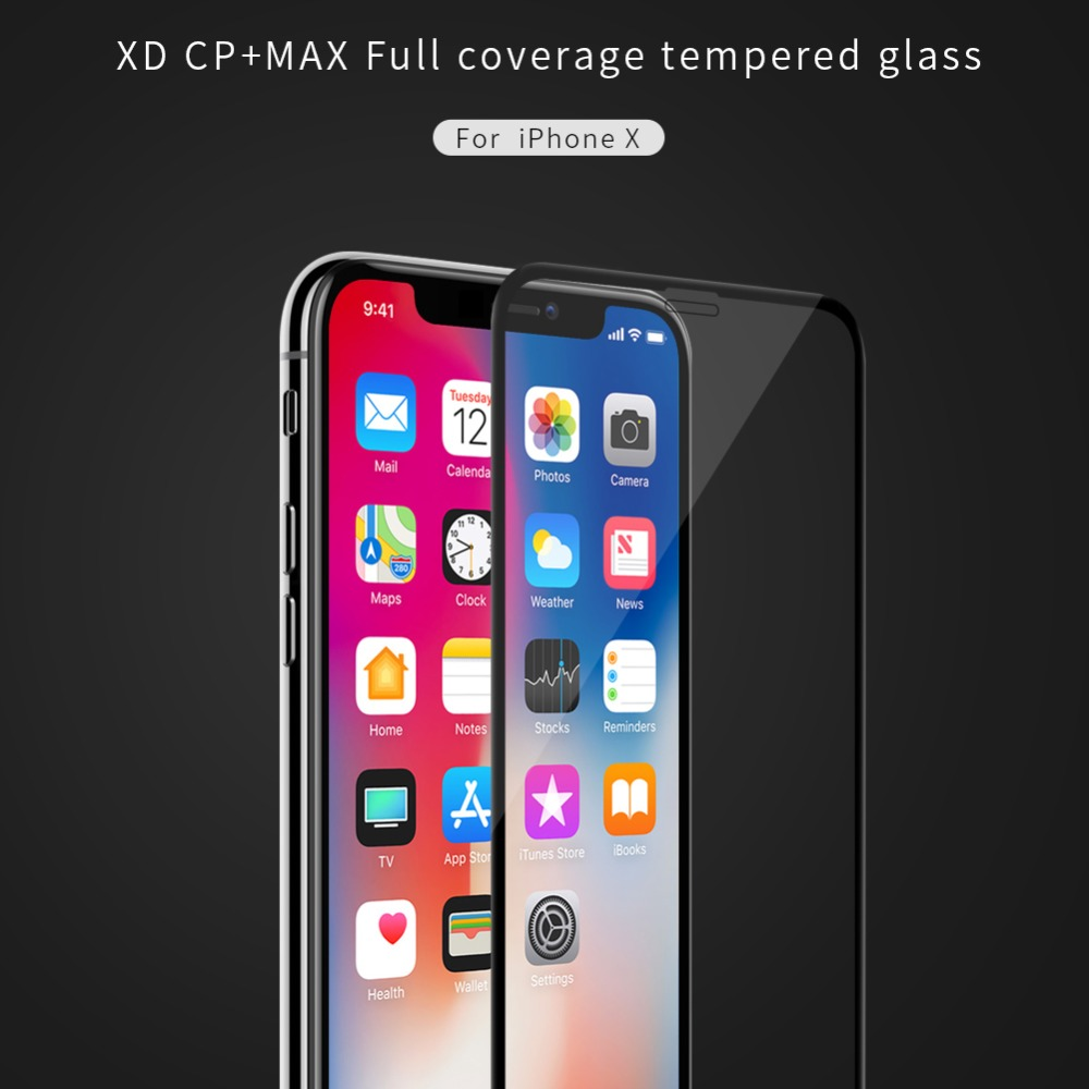 NILLKIN XD+ anti glare Screen Protector For iPhone X XR XS Max 8 8 Plus 3D Safety Protective Tempered Glass for iPhone XS GlassNILLKIN XD+ anti glare Screen Protector For iPhone X XR XS Max 8 8 Plus 3D Safety Protective Tempered Glass for iPhone XS Glass
