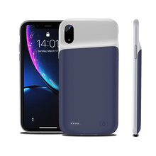 For iPhone Xs Max X XR Battery Charger Case 4000mAh Protable PowerBank Charging Cover for Xr 5200mAh with Audio