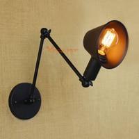 빈티지 철 벽 빛 산업 벽 조명 Sconce E27 도금 로프트 레트로 디자인 철 벽 램프 luminaire